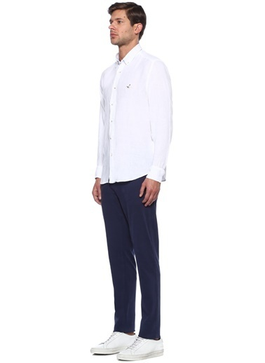 %100 Keten Uzun Kollu Gömlek-Beymen Club